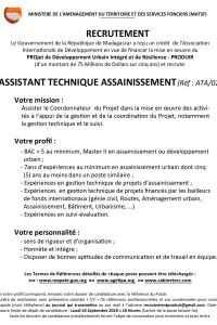 2.ASSISTANT TECHNIQUE ASSAINISSEMENT ATA02