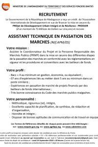 5.ASSISTANT TECHNIQUE PASSATION DE MARCHE APM05