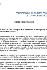 Annonce FAPBM